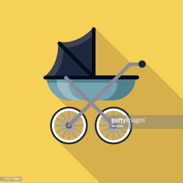baby carriage pregnancy icon - baby carriage stock illustrations