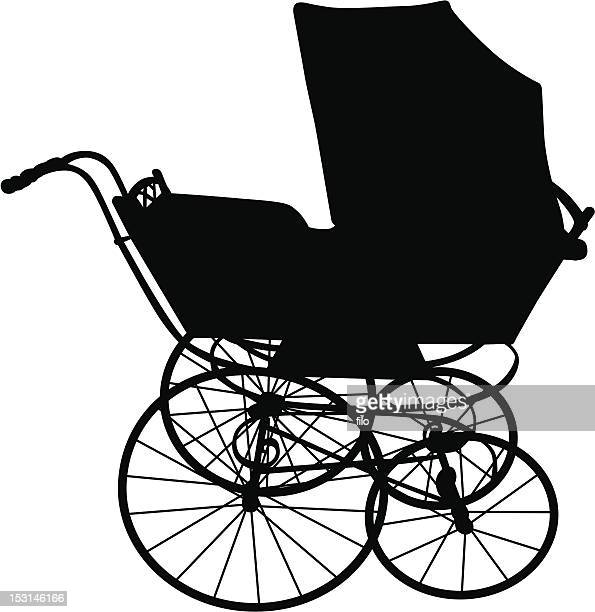 baby carriage - baby carriage stock illustrations