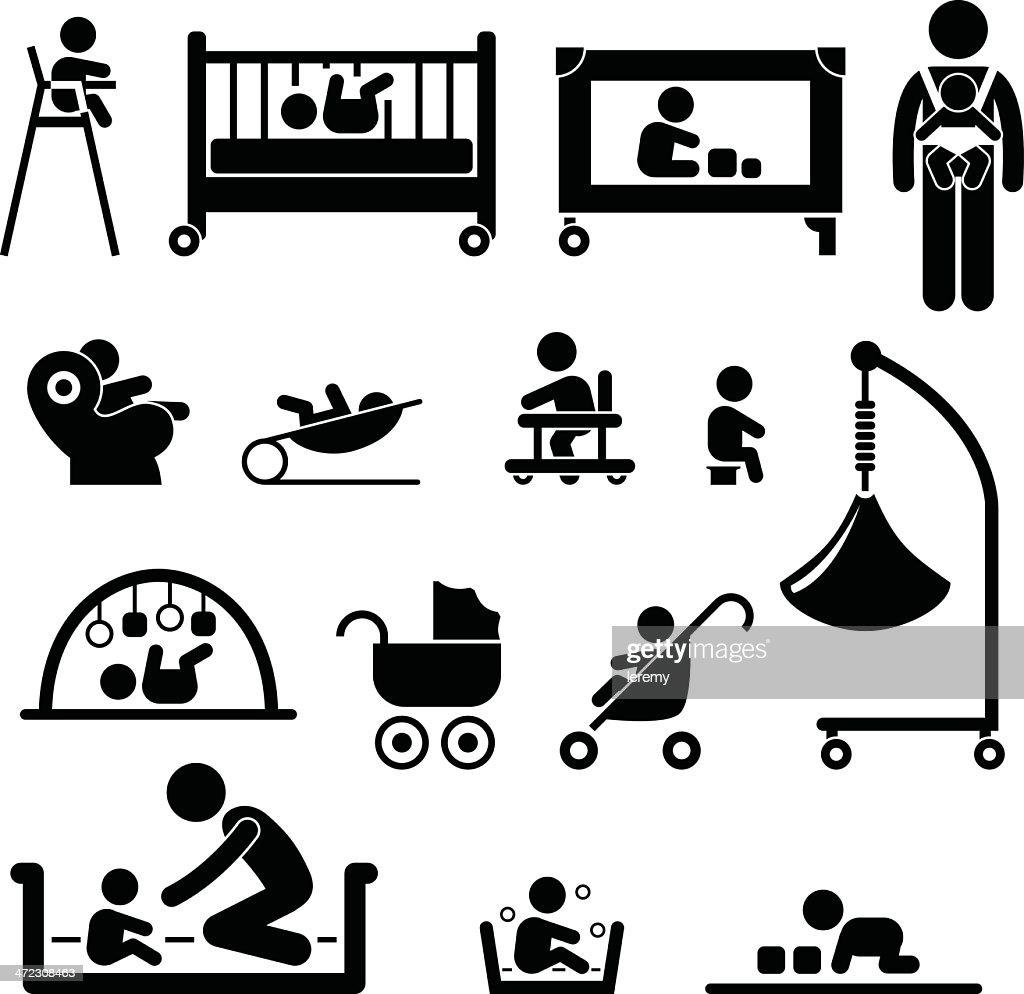 Baby Child Newborn Kid Equipment Pictogram