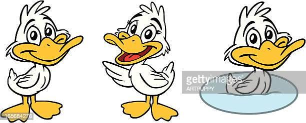 baby duck - duck stock illustrations, clip art, cartoons, & icons