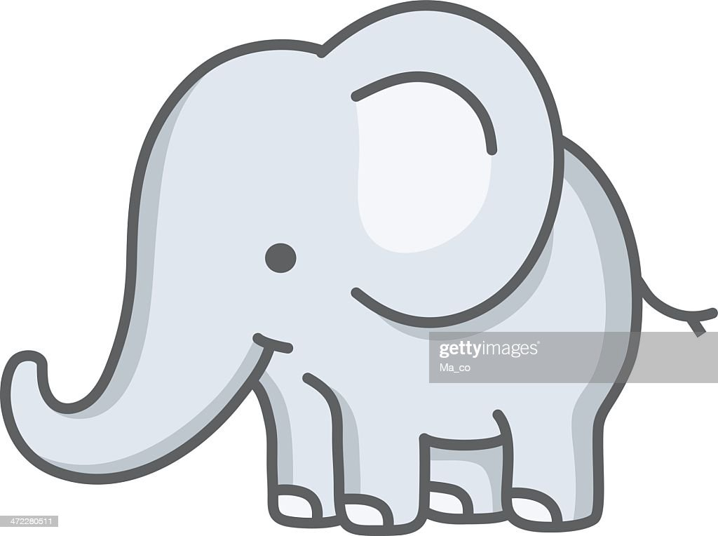 Baby Elephant Cartoon High-Res Vector Graphic - Getty Images