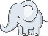 baby elephant / cartoon