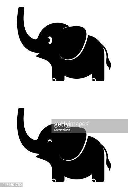 ilustrações de stock, clip art, desenhos animados e ícones de baby elephant - elefante