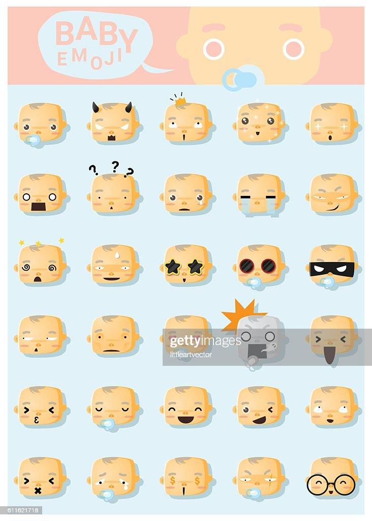 Baby emoji icons 1