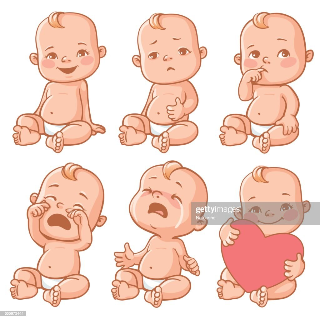 Baby emotions set.