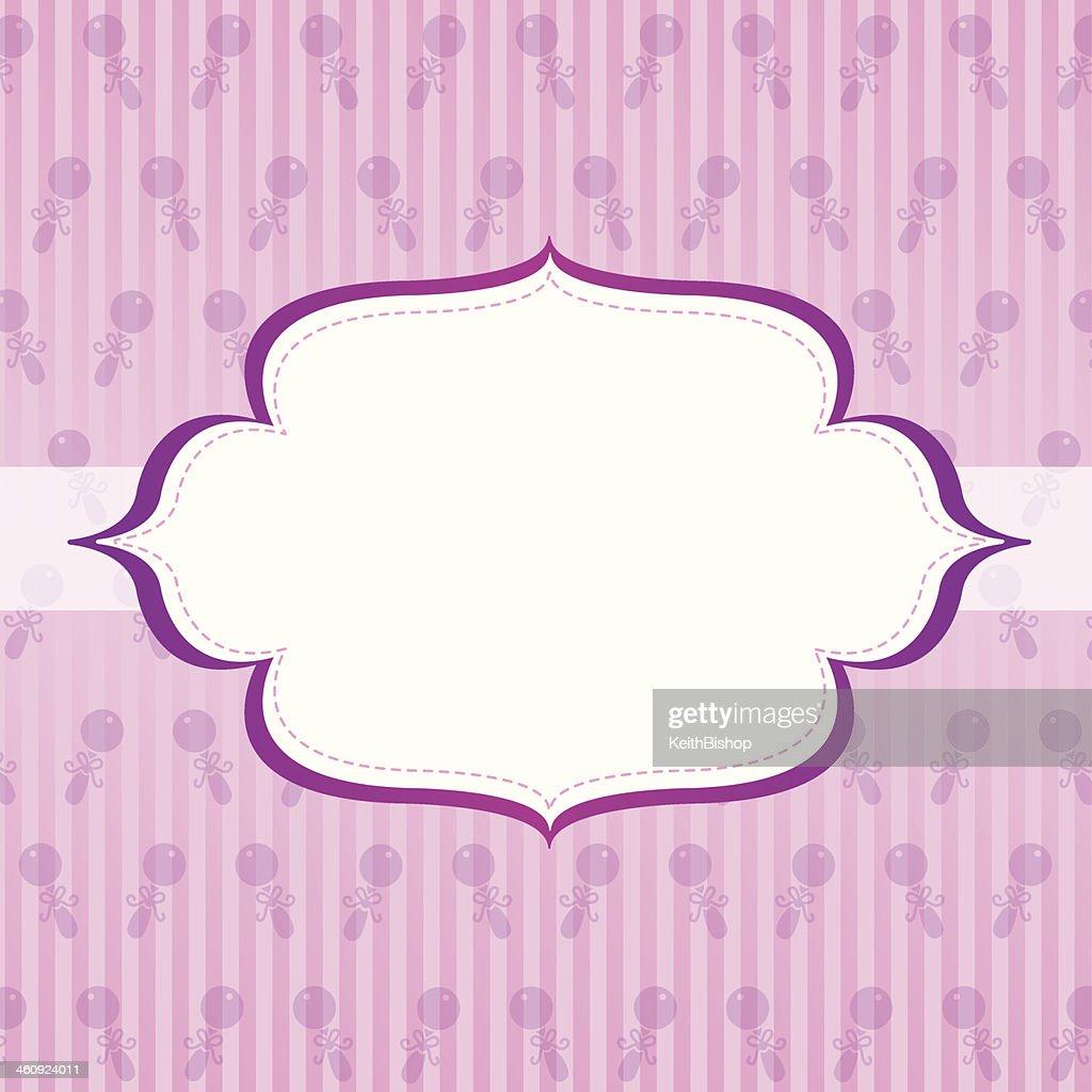 Baby Girl Background Design