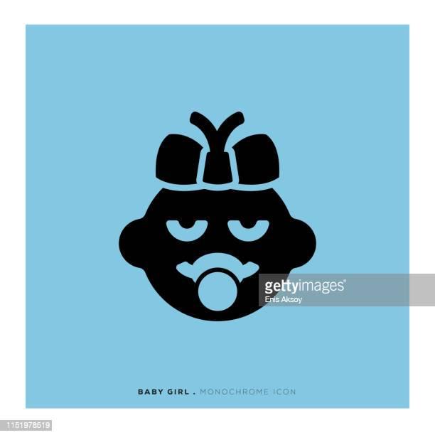 ilustrações de stock, clip art, desenhos animados e ícones de baby girl icon - bebe chegando