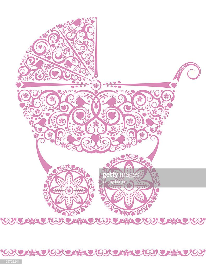 Baby Girl Pink Carriage