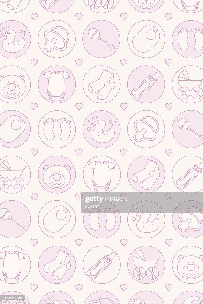Baby Girls Repeat Pattern Print