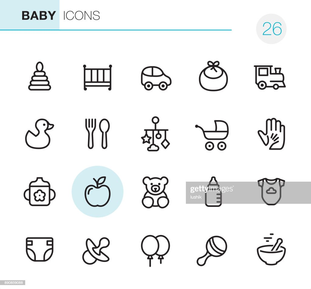 Baby Goods - Pixel Perfect icons : stock illustration