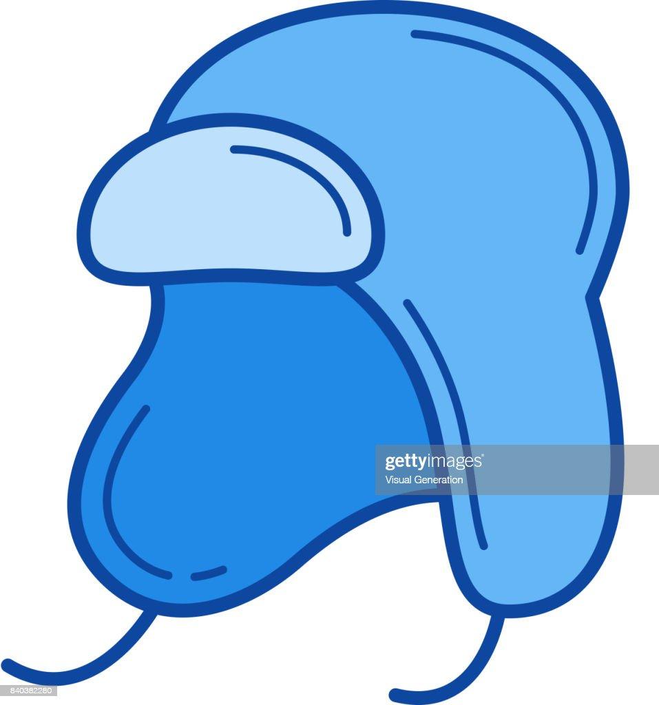Baby hat line icon