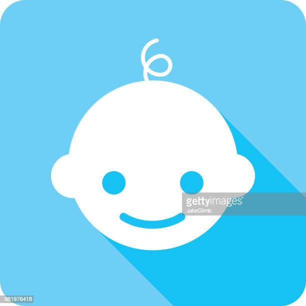 baby icon silhouette - baby human age stock illustrations, clip art, cartoons, & icons