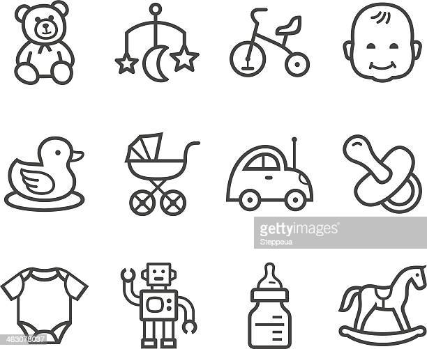 baby icon - toddler stock illustrations, clip art, cartoons, & icons