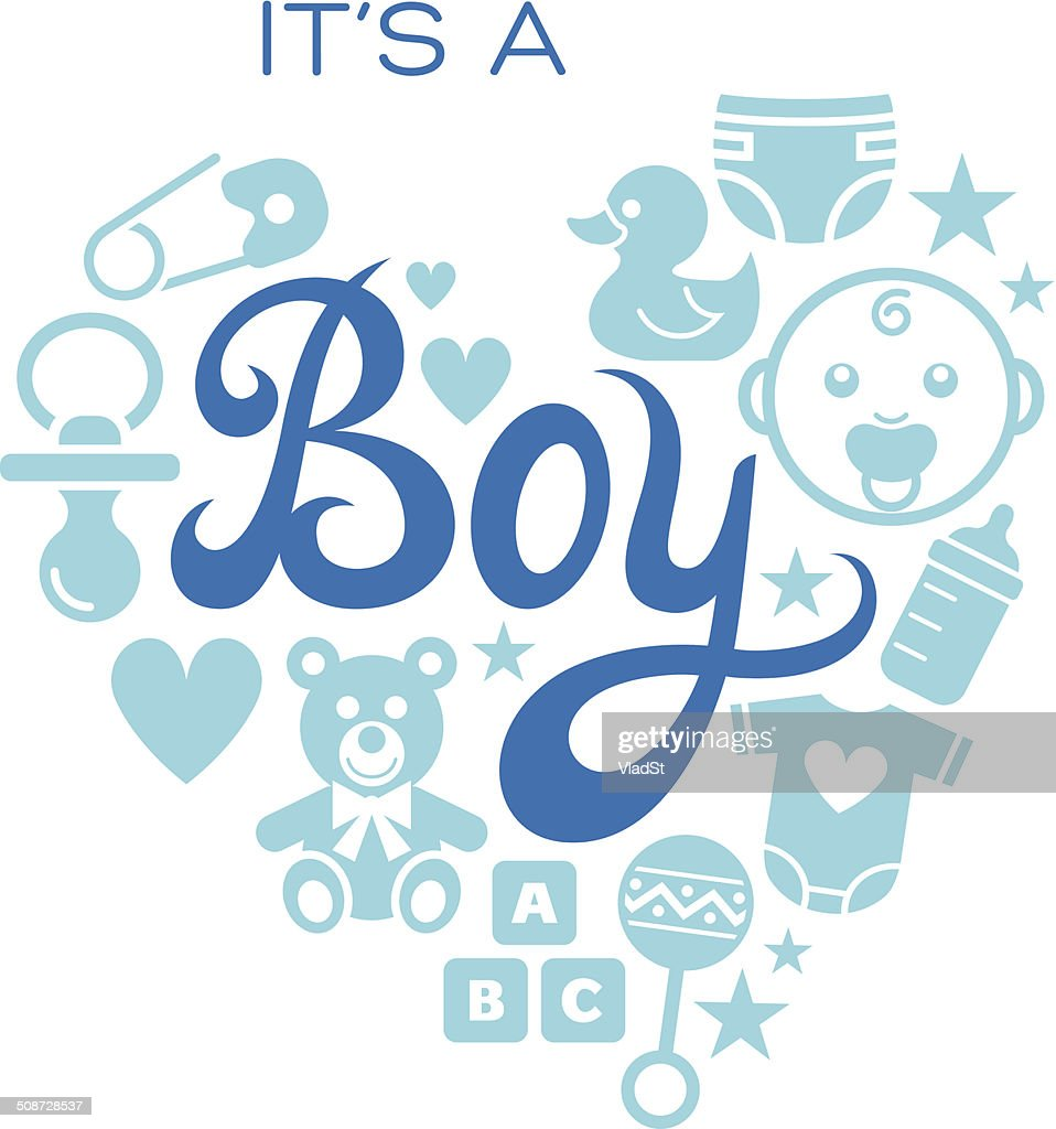 ic nes de b b its a boy clipart vectoriel getty images rh gettyimages fr animated clipart boy it's a baby boy clipart