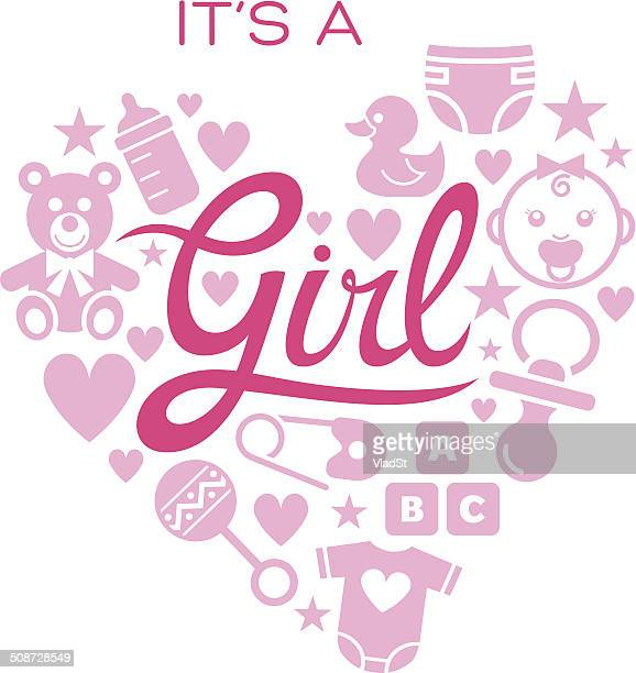 Baby icons - It's a Girl