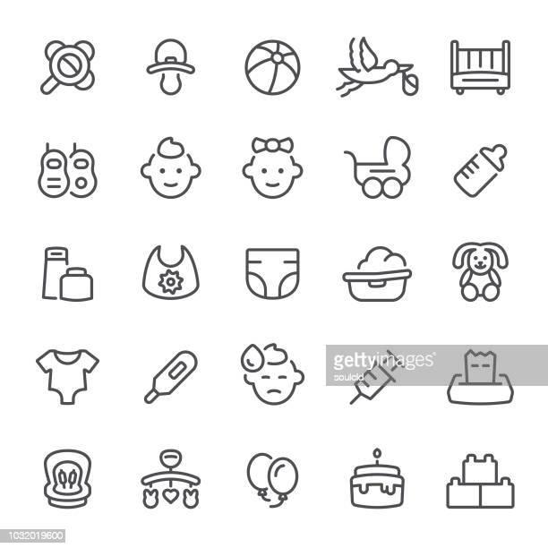 ilustraciones, imágenes clip art, dibujos animados e iconos de stock de iconos de bebé - pelota de playa