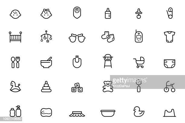 赤ちゃんアイコン - 赤ちゃん点のイラスト素材/クリップアート素材/マンガ素材/アイコン素材