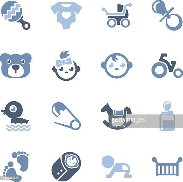 baby icons - vertebrate stock illustrations