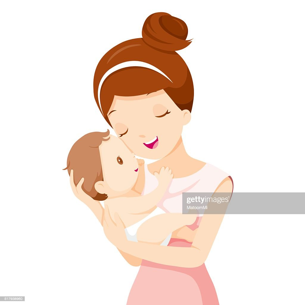 Baby In A Tender Embrace Of Mother