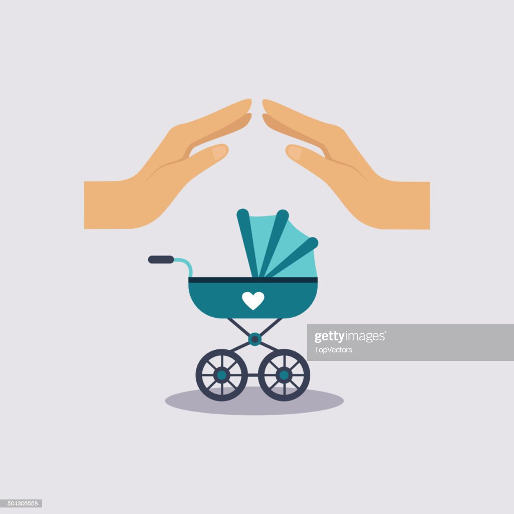 Baby Insurance Vector Illustartion