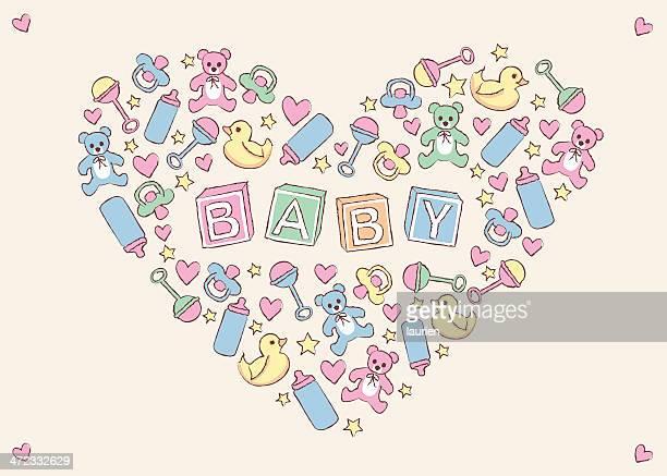 ilustrações de stock, clip art, desenhos animados e ícones de de itens criar símbolo do coração. - chadebebe