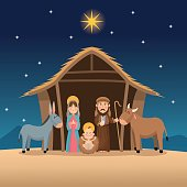 Baby jesus mary and joseph design
