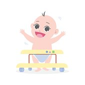 baby learns to walk by means of Baby walker