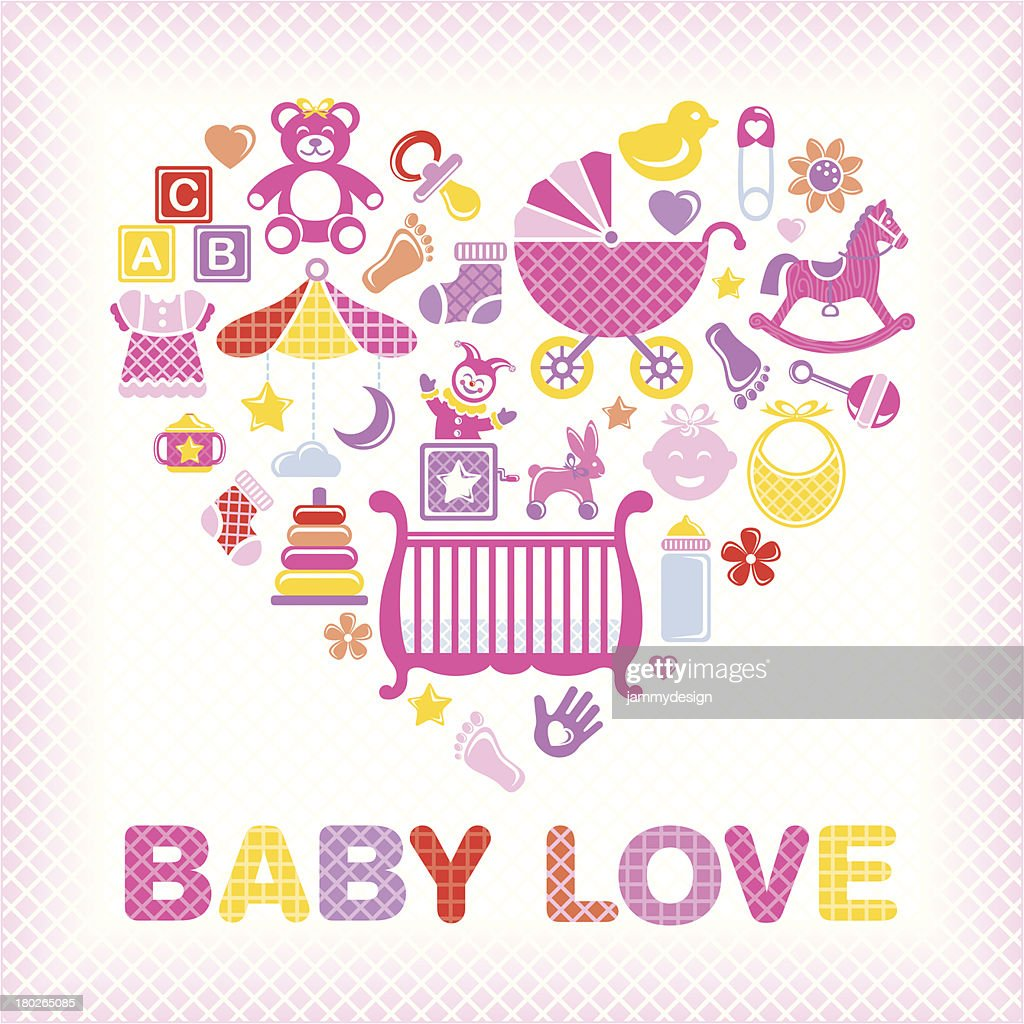 Download Baby Love Girl High-Res Vector Graphic - Getty Images