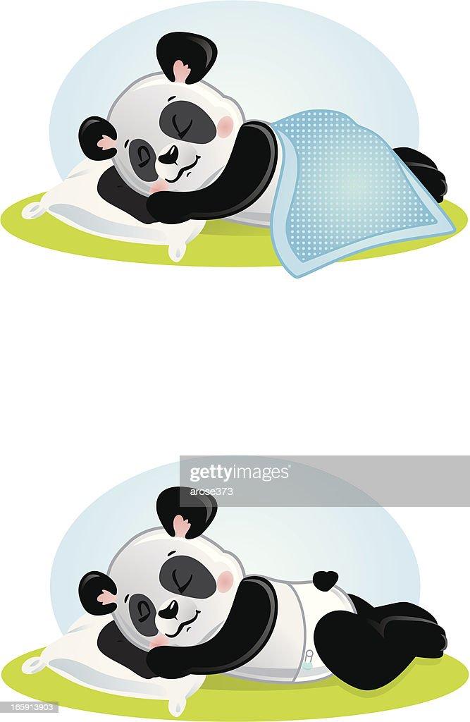 Panda Bebê Menino dormir : Ilustração