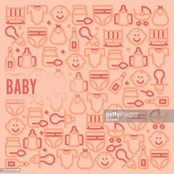 baby pattern - baby changing mat stock illustrations