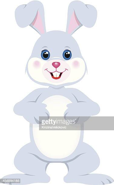 baby rabbit - easter bunny stock illustrations