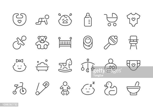Baby - Regular Line Icons