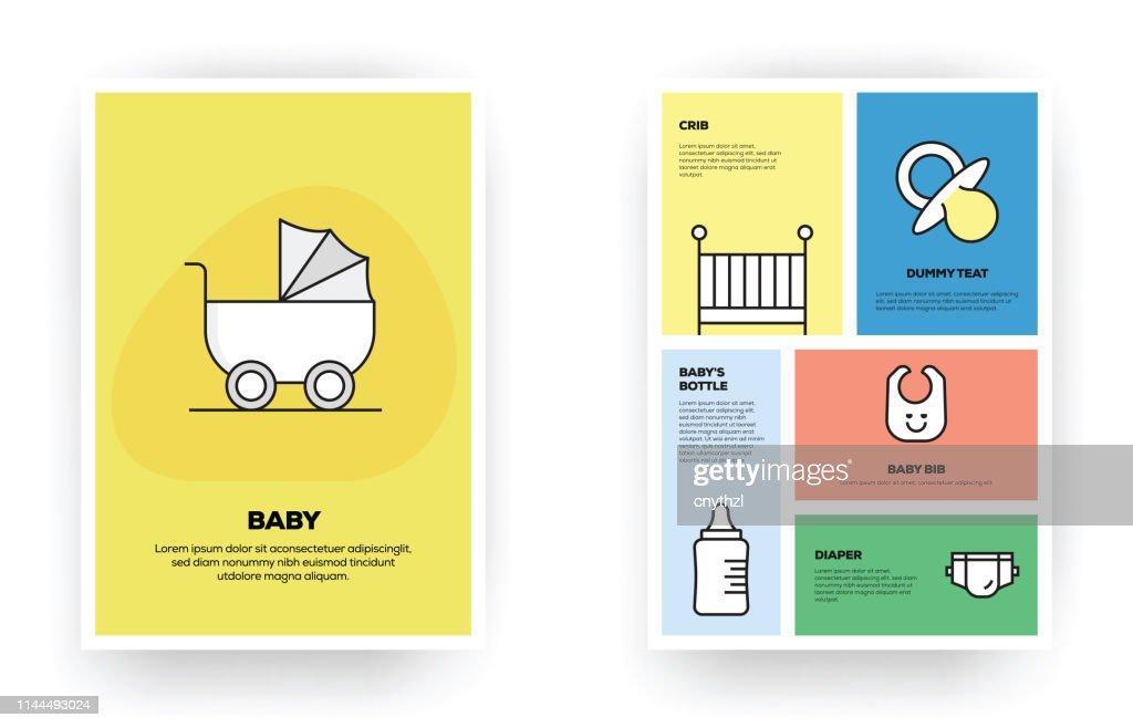 Infográfico relacionado ao bebê : Ilustração
