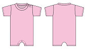 Baby rompers illustration (pink)