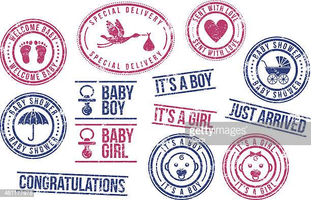 Baby - rubber stamps