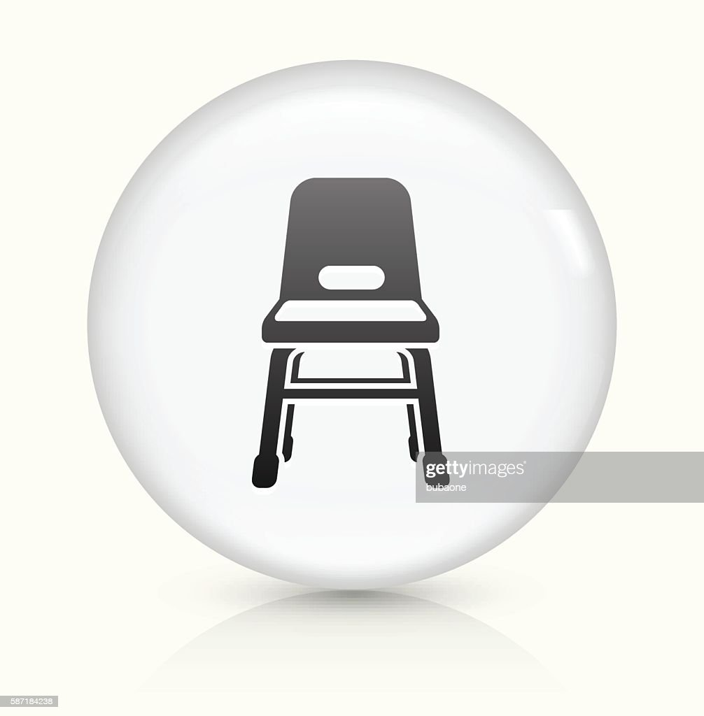 Baby Seat Icon On White Round Vector Button Vector Art | Getty Images