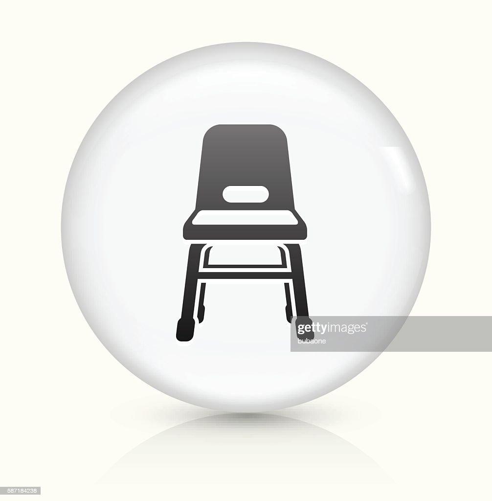 Baby Seat Icon On White Round Vector Button Stock Illustration