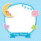 Baby shower blue template