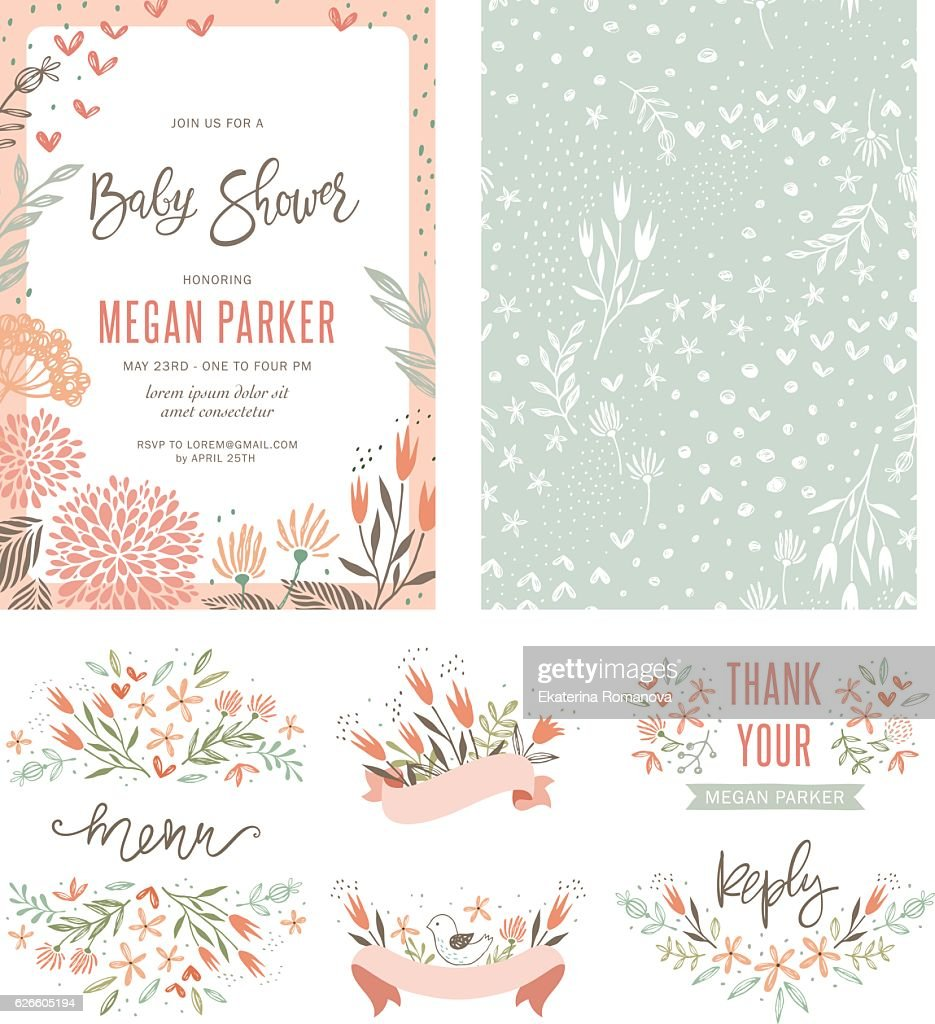 Baby Shower Floral Set