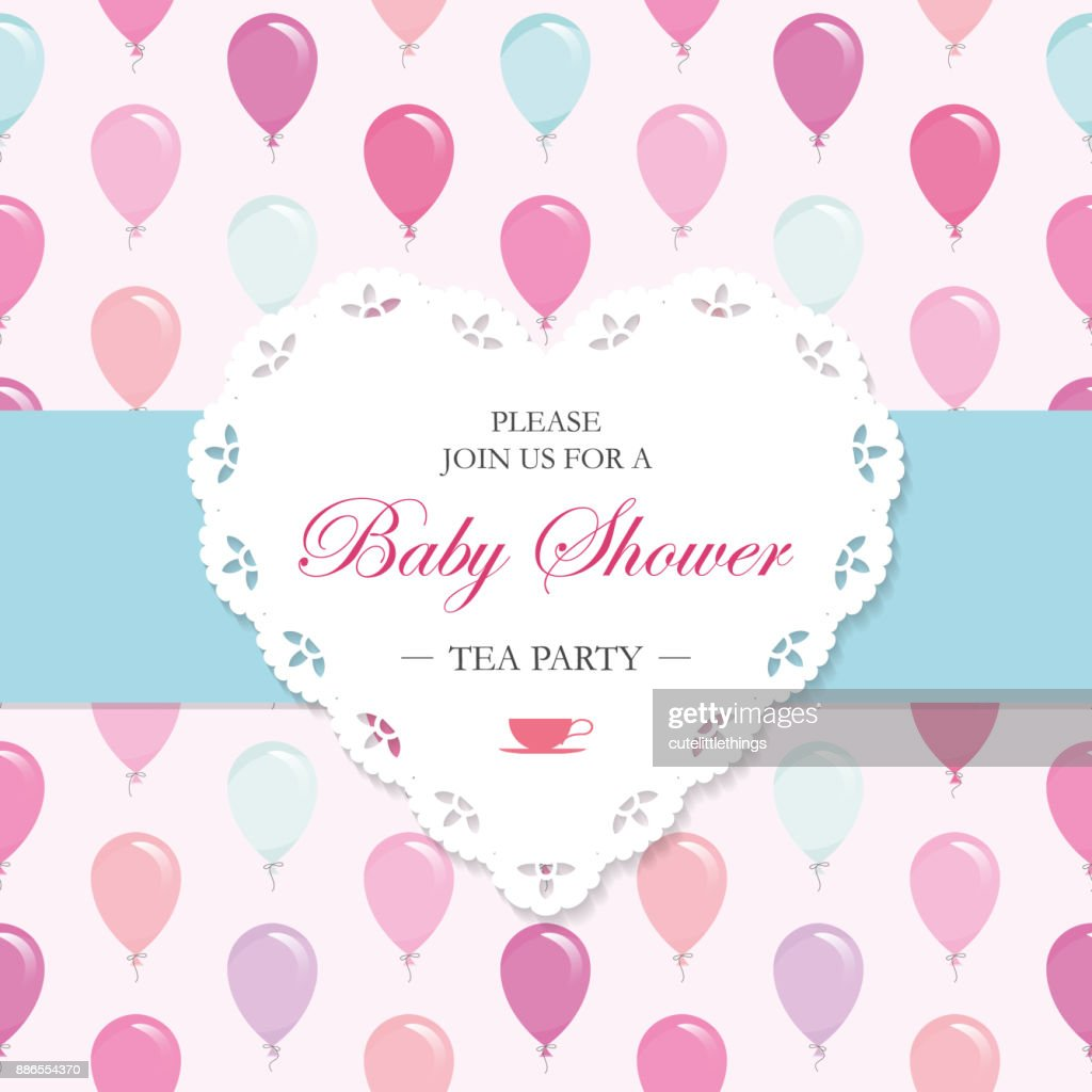 Baby Shower Invitation Card Template Included Seamless