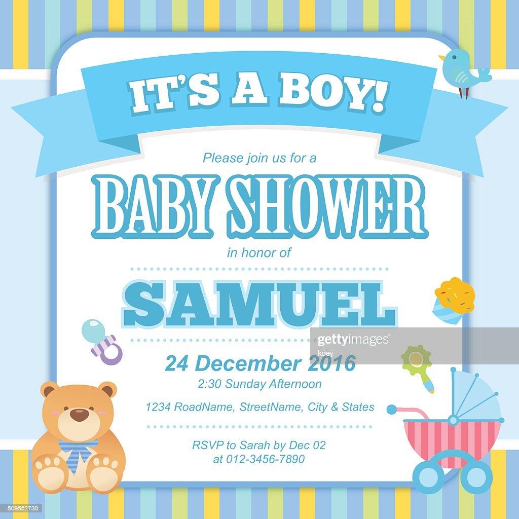Baby Shower Invitation Card (Boy)