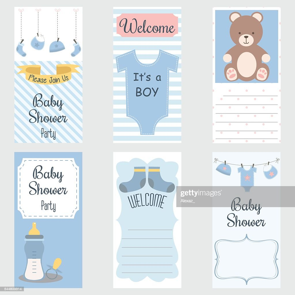 Baby Shower Invitation Card.It's a Boy.Baby Shower Greeting Card.Baby Boy Shower set