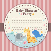 baby shower party invitation card