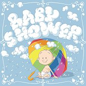 Baby Shower Vector Cartoon Invitation