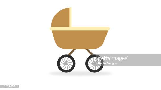 baby stroller icon - baby carriage stock illustrations