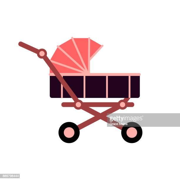 Baby Stroller - Vector