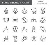 Baby theme pixel perfect 48X48 icons.
