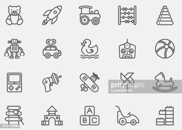 baby toy line icons | eps10 - bloco stock illustrations
