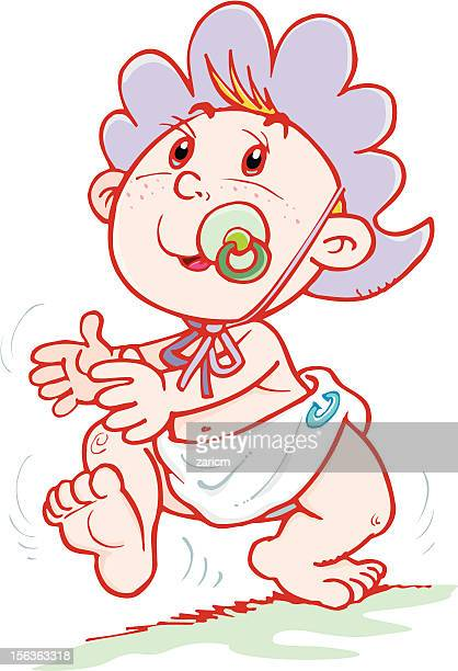 baby - bonnet stock illustrations, clip art, cartoons, & icons
