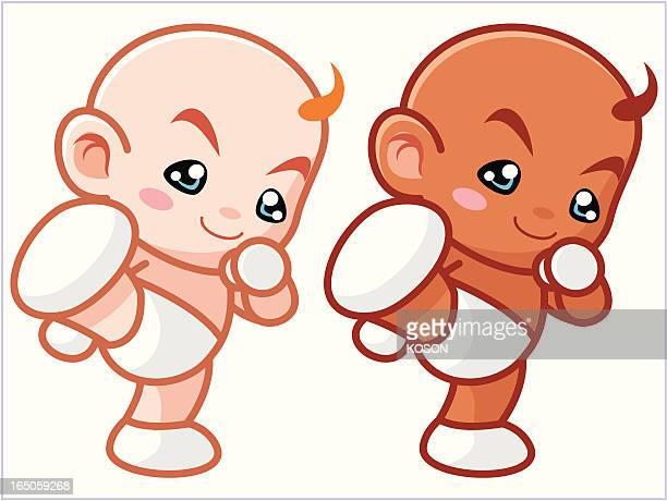 baby - kicking stock illustrations